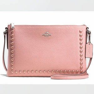 Coach Pink Lacquer Rivets Journal Crossbody